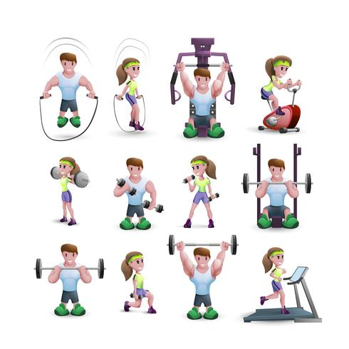Icon Set van fitness-tekens vector