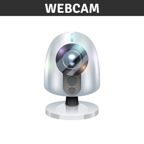 Witte webcamillustratie vector