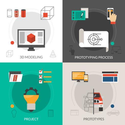 Prototyping en modellenset vector