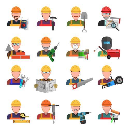 Werknemer Icons Set vector