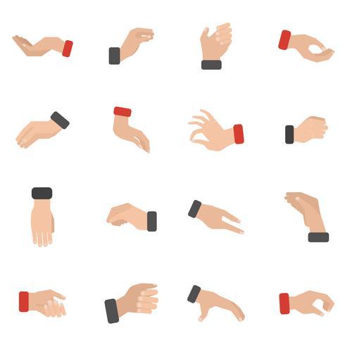 Grijpen Hand Icons Set vector