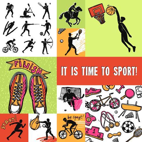 Sport ontwerpconcept vector