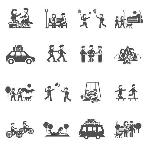Uitje Icons Set vector