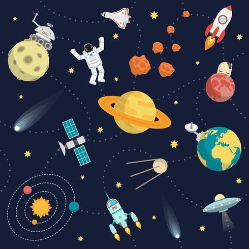 ruimte achtergrond plat vector
