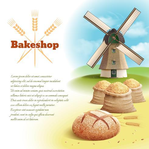 Brood achtergrond afbeelding vector