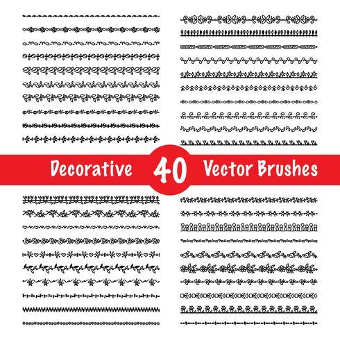 Vector penseel set