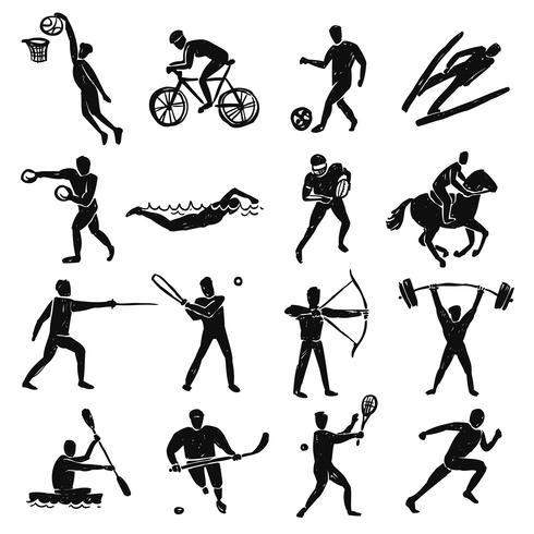 sport schets mensen instellen vector