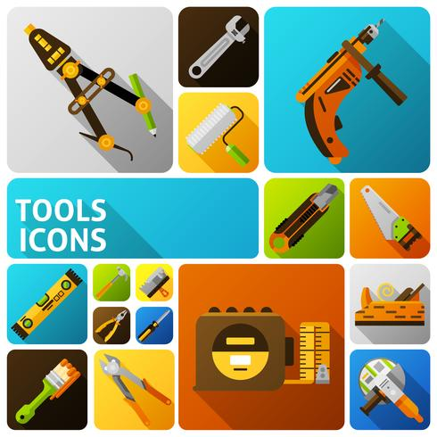 Diy Tools pictogrammen vector