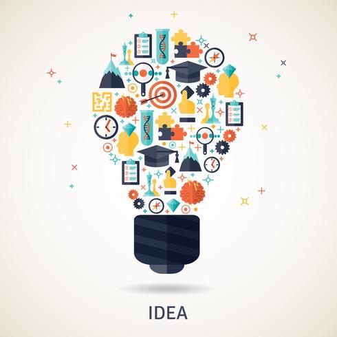 Idee Concept Illustratie vector