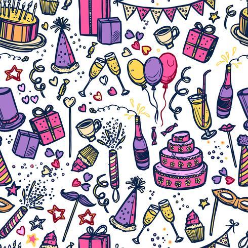 Verjaardag feest tijd naadloze patroon vector