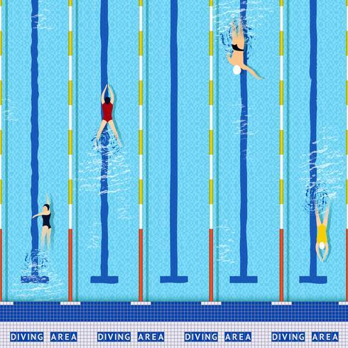 Zwembad bovenaanzicht vector