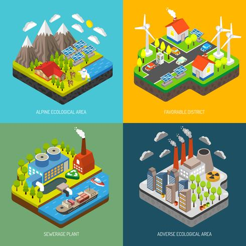 Milieuverontreiniging en -bescherming vector