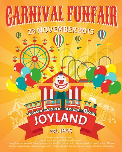 Funfair poster illustratie vector