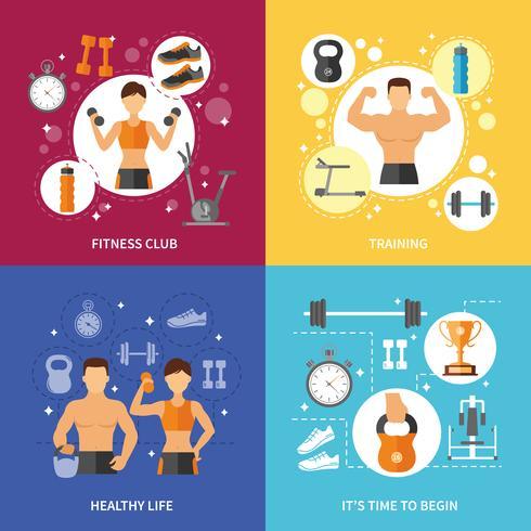 Fitness Club Gezond Leven Concept vector