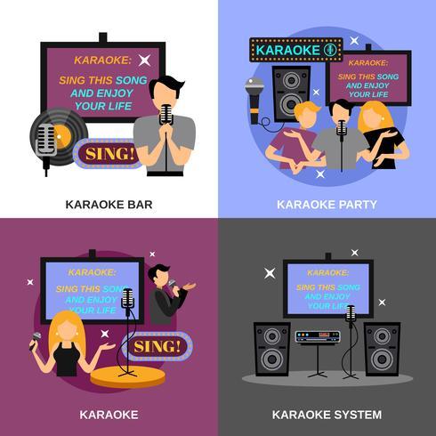 karaoke flat set vector