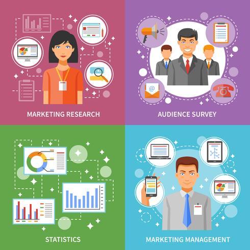 Marketingmethode plat vector
