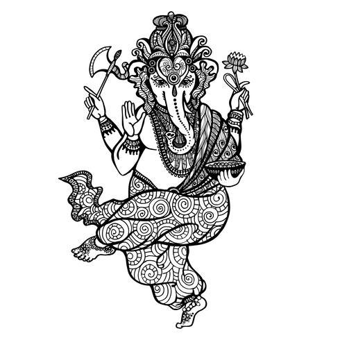 Dansende Ganesha-pictogram vector