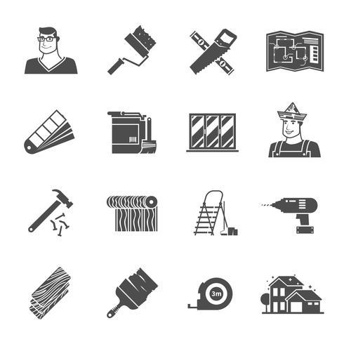 Renovatie Icons Set vector