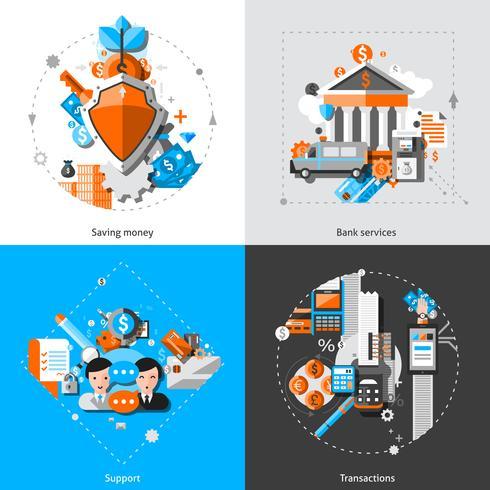 Bancaire concepten pictogrammen vector