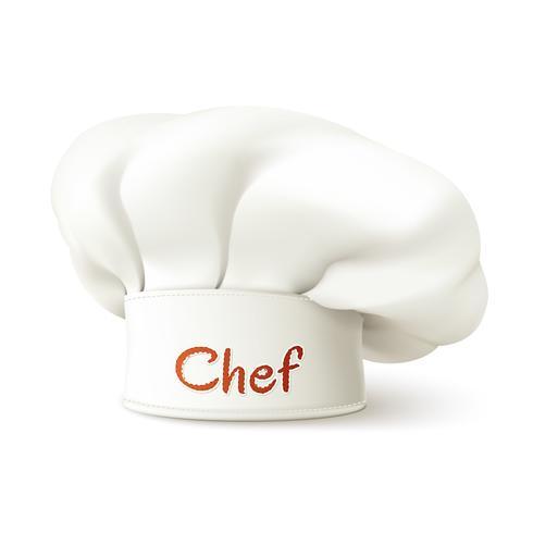 Chef-kok Hat Realistisch vector