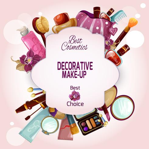 Make-up Concept Illustratie vector