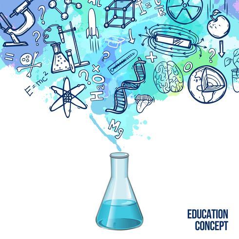 Onderwijs concept schets vector