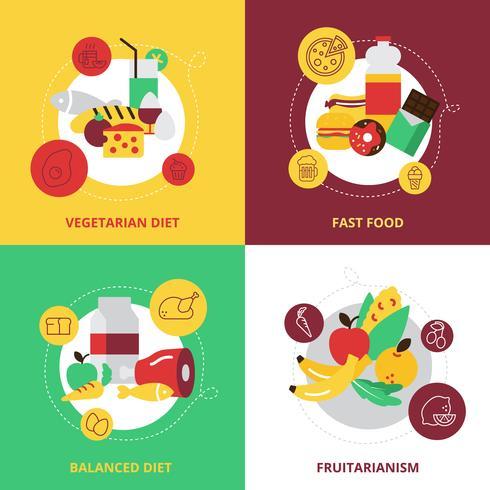 Eten en drinken ontwerp Icons Set vector