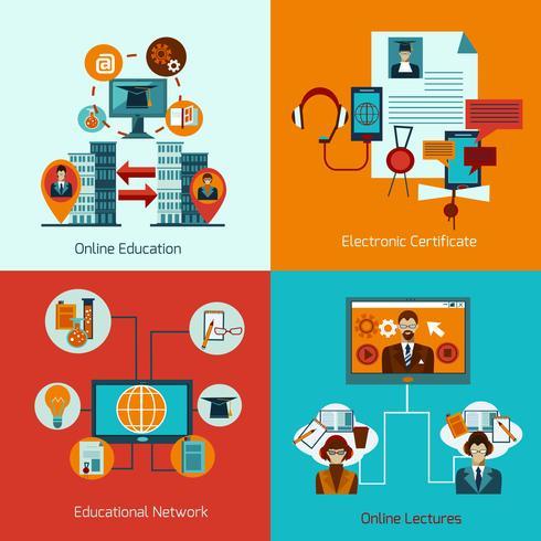 Online onderwijsset vector