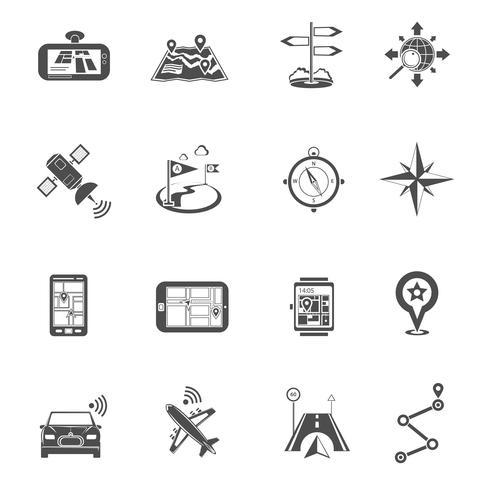 Locatie Flat Icon Set vector