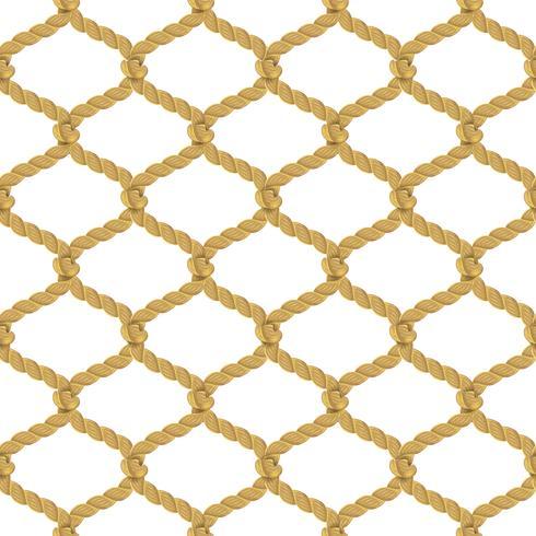 touw netto naadloos patroon vector