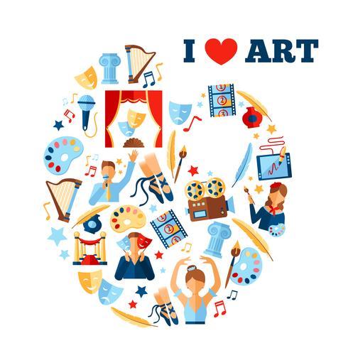 Kunst Concept Illustratie vector