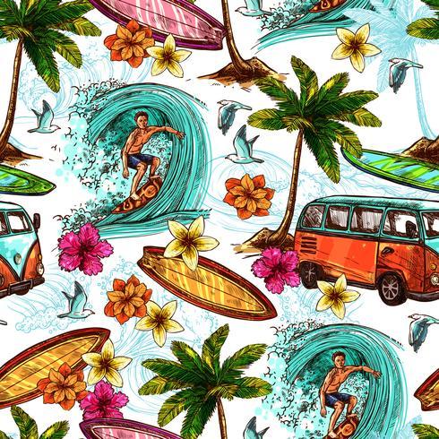 Surf naadloos patroon vector