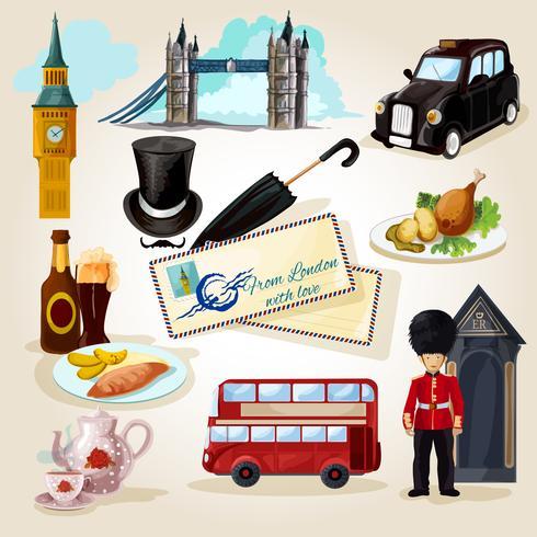 London toeristische set vector