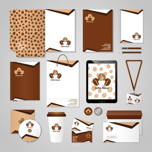 koffiehuis identiteit vector