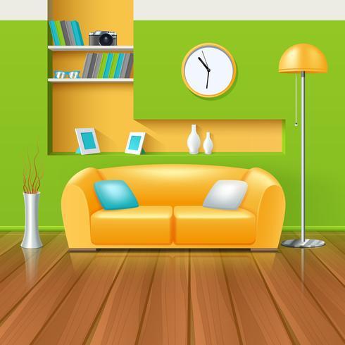 Modern interieur vector