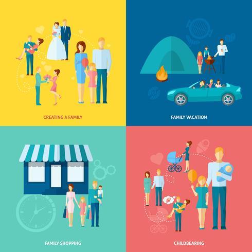 Familie Concept Set vector