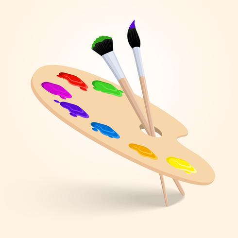 Kunst kleurenpalet vector