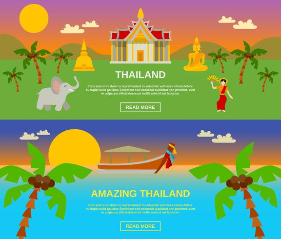 Verbazingwekkende Thailand Banners Set vector