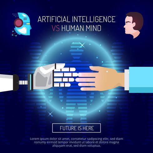 Kunstmatige intelligentie achtergrondconcept vector