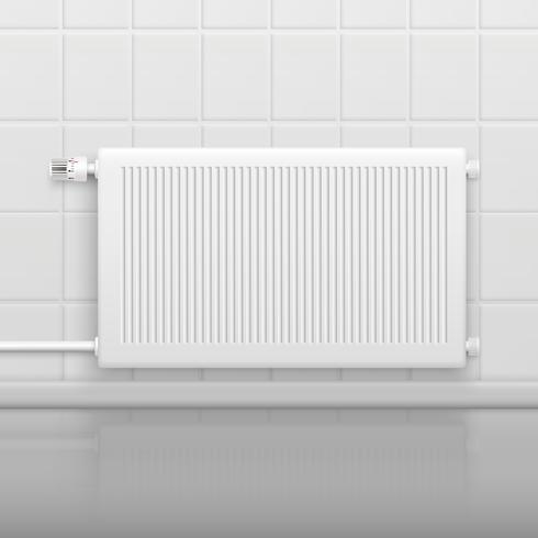 Hot Water Radiator Realistisch beeld vector