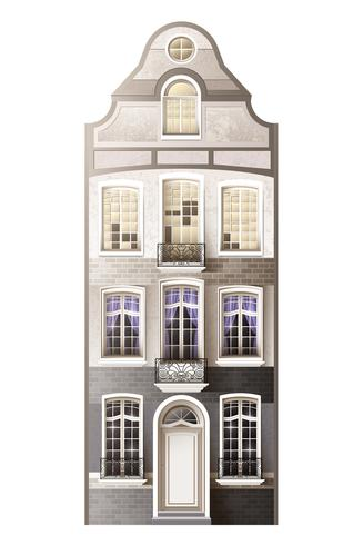 Klassieke huis gevel samenstelling vector