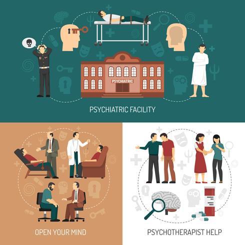 Psycholoog Design Concept vector