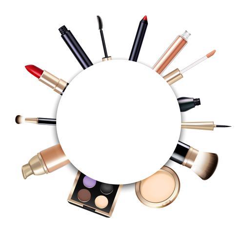 Realistische make-up frame vector