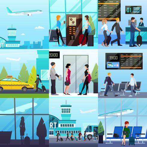 Airport Express compositieset vector