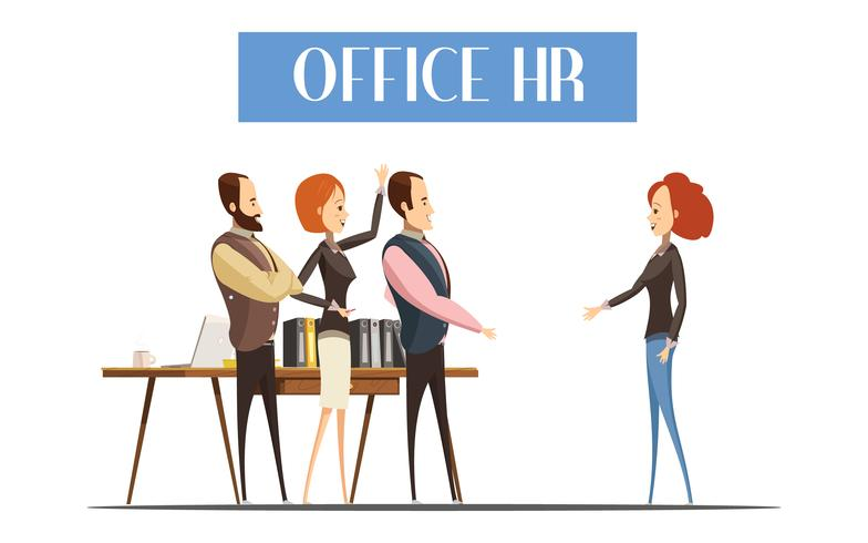 Office HR Cartoon stijl illustratie vector