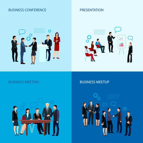 Vergadering en conferentie Concept vector