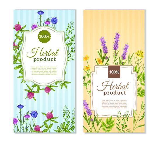 Kruiden en wilde bloemen Banners vector