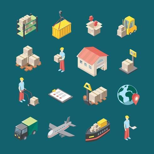 Logistiek Icons Set vector