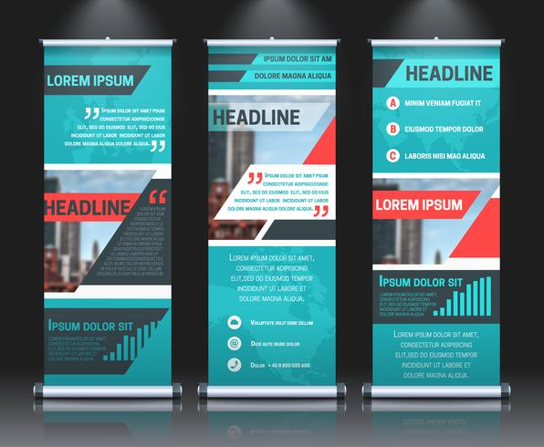 Rollup banners sjabloon vector