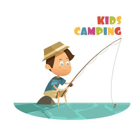 Camping Kinderen Concept vector